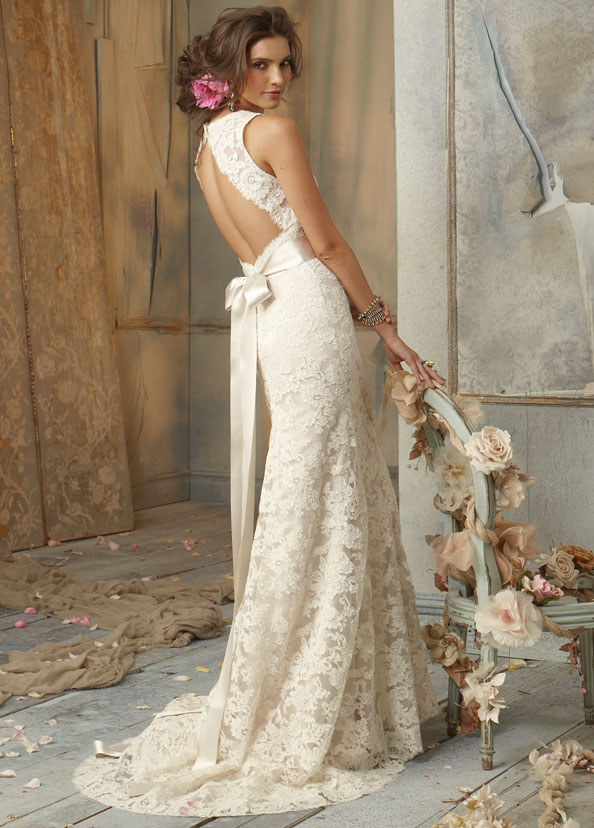 Jim Hjelm Fall Unique Detailing Wedding Dress Style