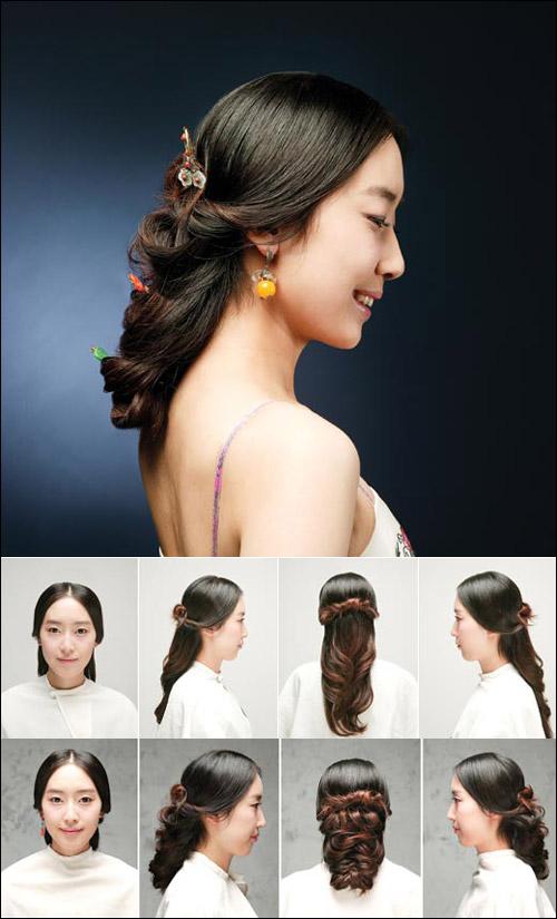 Японские причёски для длинных волос своими руками