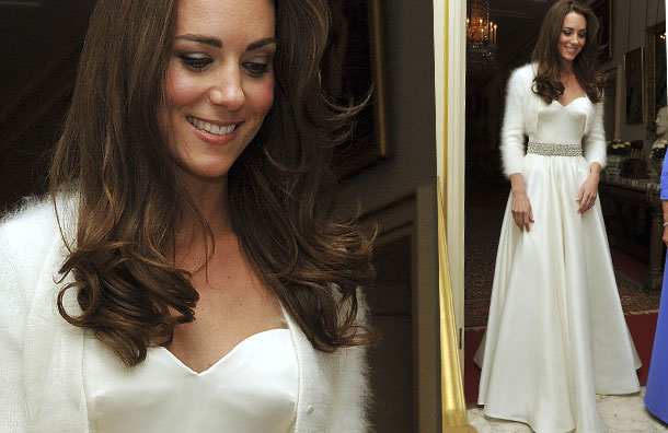 Royal bride kate middleton and prince william evening for 2nd wedding dress for reception
