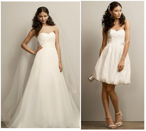 Two in one wedding dresses by David\'s Bridal   The FashionBrides