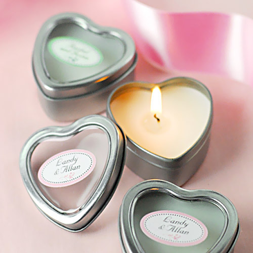 Wedding Favors Gifts For Guests Uk : Candle Wedding Favors by Beau-coupmini-vanilla-heart-candle-tins ...