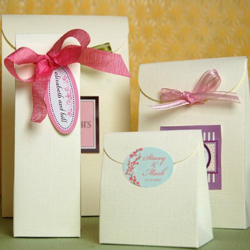 Wedding Favor Bags And Ribbons : Wedding Favor Boxes, Ribbons & Labels Fashionbrides Weblog
