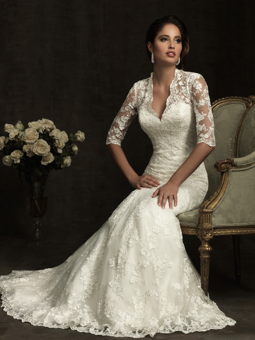 Allure Bridals bridal gowns are both modern and classics