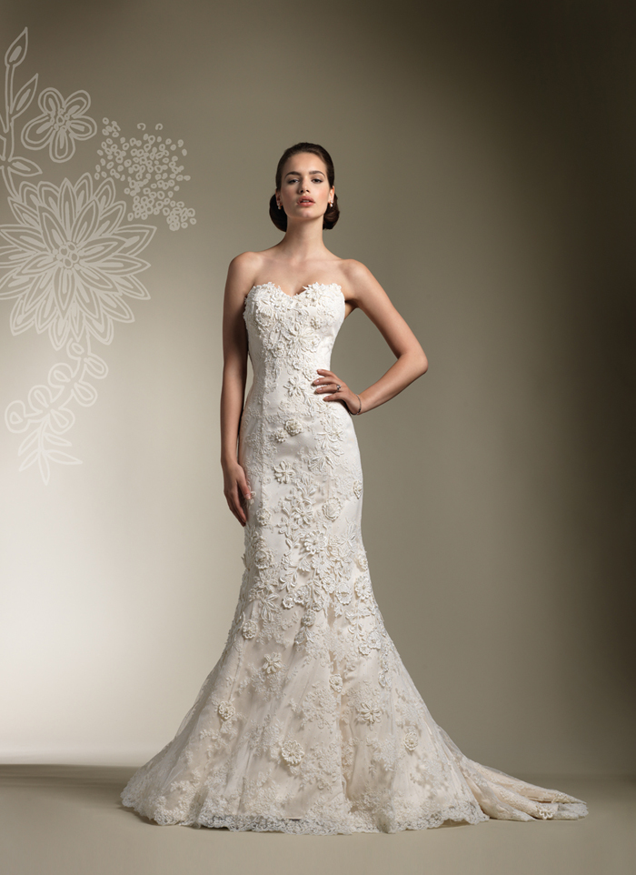 Justin alexander 2012 bridal collection final the for Justin alexander lace wedding dress