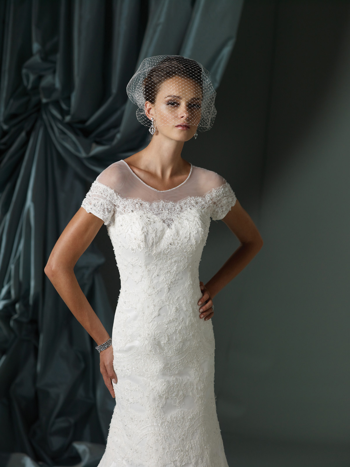 James clifford 2012 spring summer bridal collection the for Mature women wedding dress