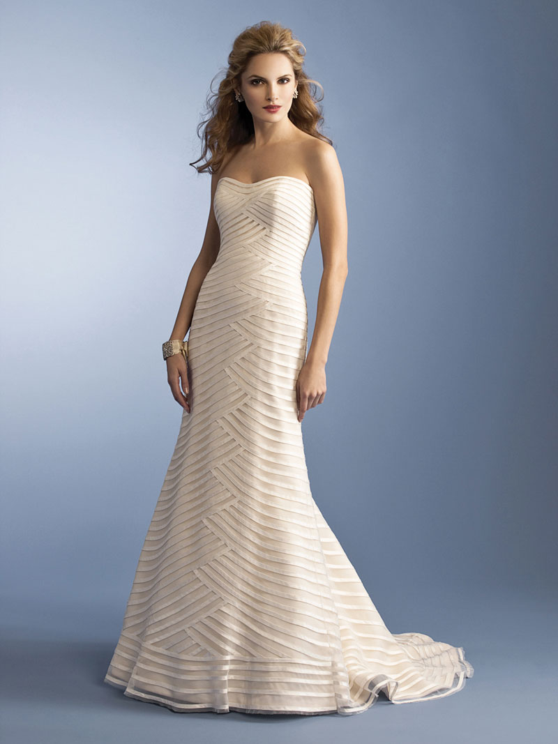 Anne barge 2012 bridal campaign collection the fashionbrides for Wedding dress with stripes