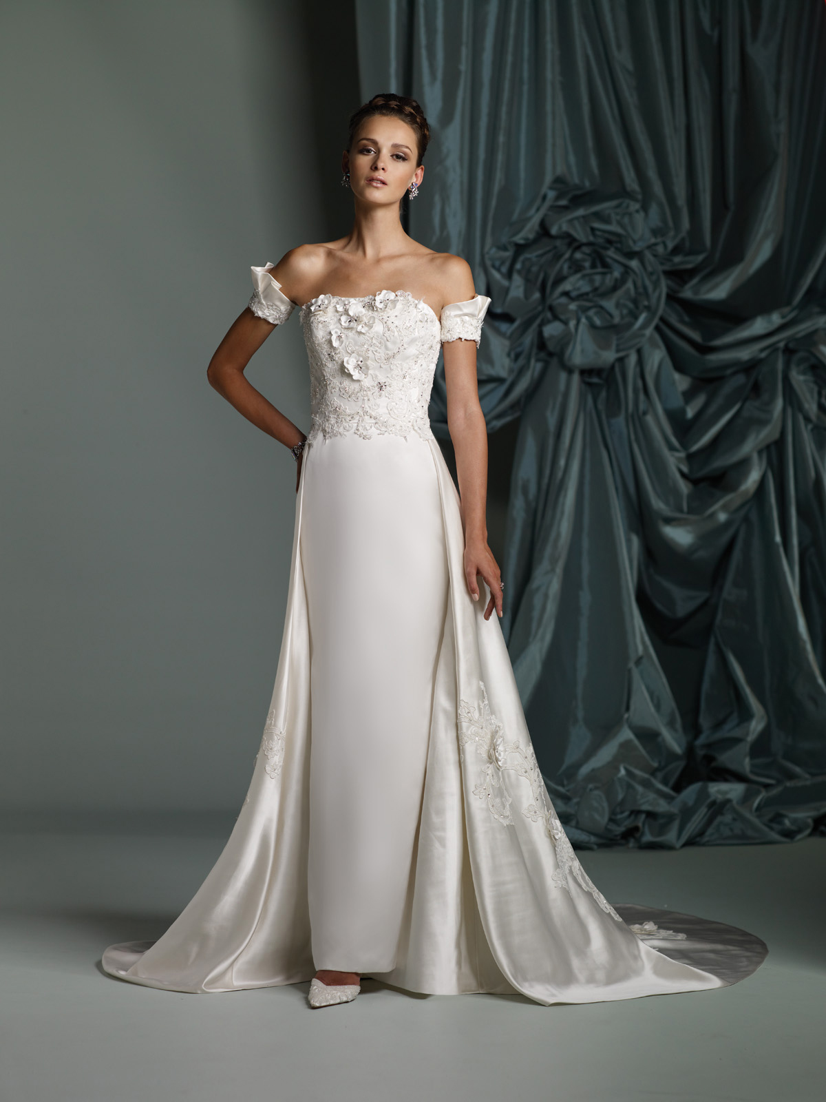 James clifford spring summer 2012 bridal collection the for Summer wedding dresses with sleeves