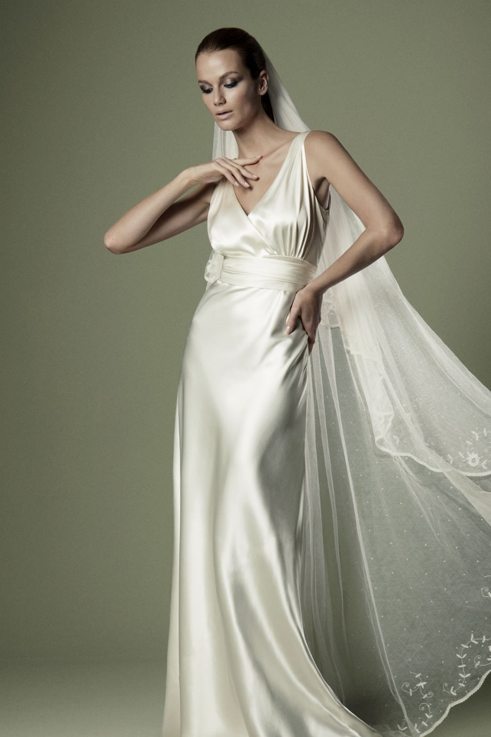 The vintage wedding dress company spring 2012 bridal for Ivory silk wedding dresses
