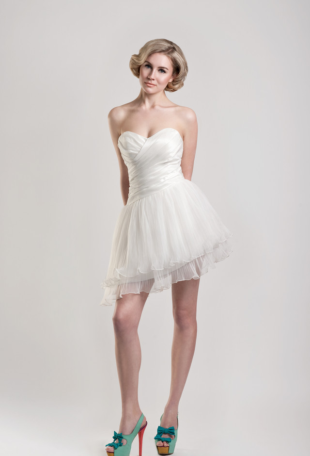 Tobi hannah spring 2013 bridal collection the fashionbrides for Short wedding dresses 2012