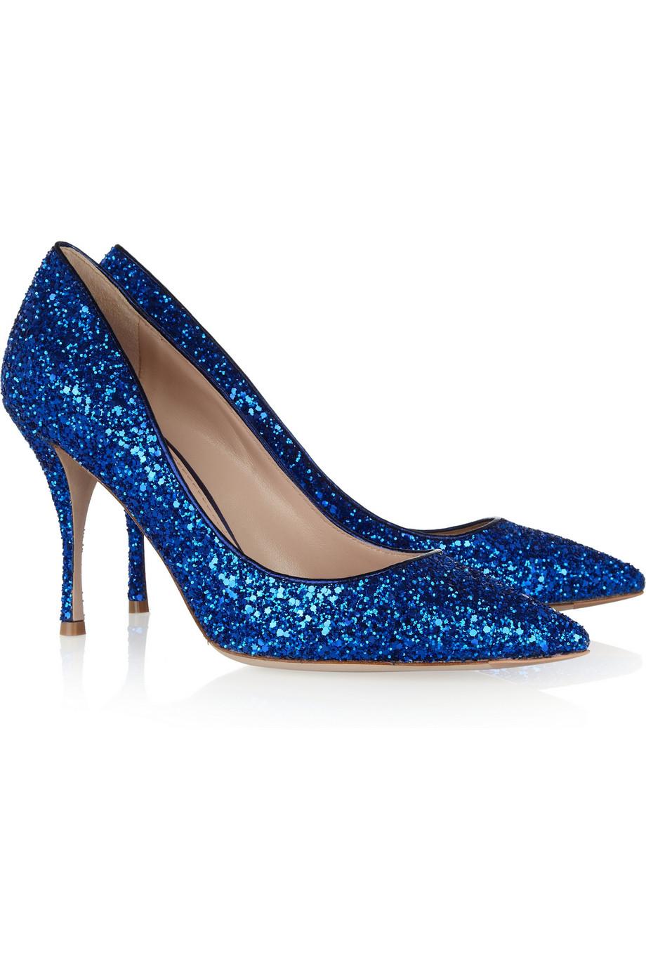 Glitter Blue Heels