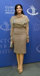 Princess Amira of Saudi Arabia arrives at the Clinton Global Initiative Reception in New York