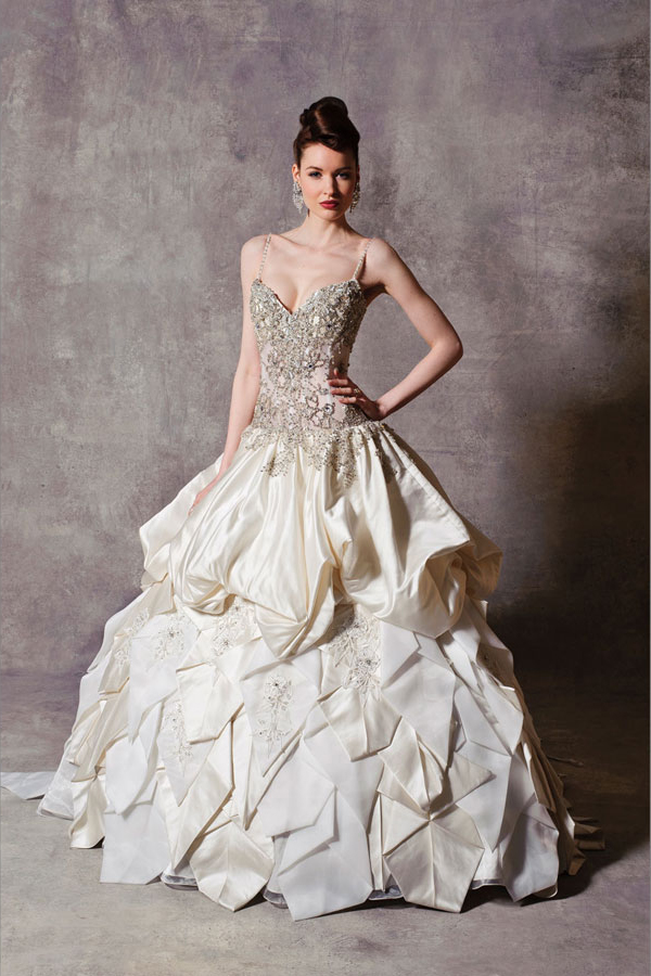 9 stephen yearick brides of beverly hills ballgown beaded for Beverly hills wedding dresses