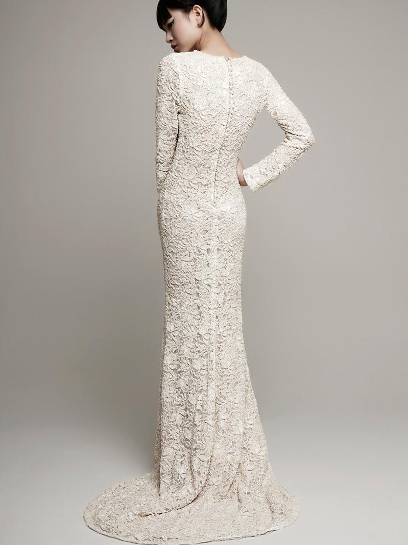 Couture treasure 2014 spring bridal collection for Modern vintage lace wedding dress