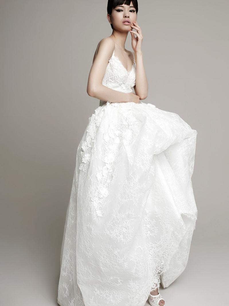 Fashion wedding dresses lace modern bride designer bridal for Barcelona wedding dress designer