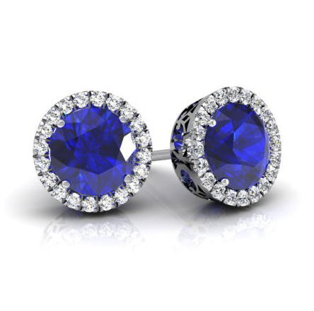 sapphire-diamond-halo-earrings