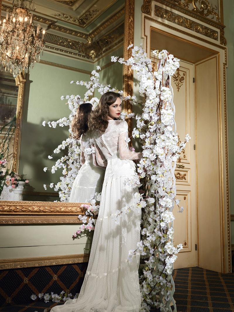 Vintage Wedding Dresses Gowns Lace Style Dress Ivory Couture 30 Fashion 1930 Yolancris Yolan Cris Barcelona Tucuman 31w799