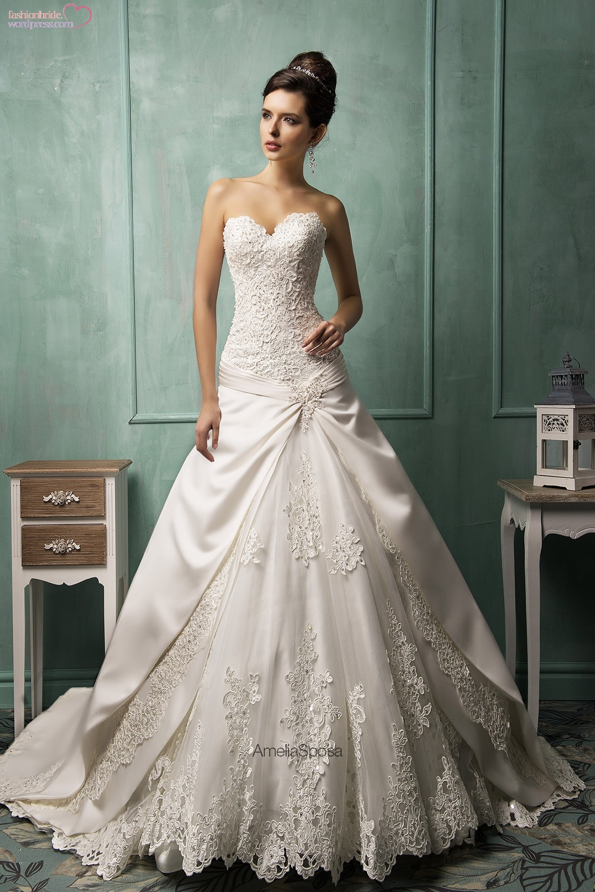 Amelia sposa spring 2014 bridal collection iii the for Wedding dresses made in italy