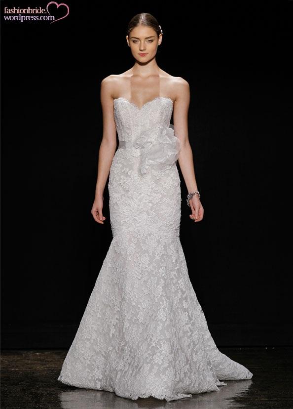 Lazaro bridal alencon lace trumpet gown strapless for Lazaro lace wedding dress