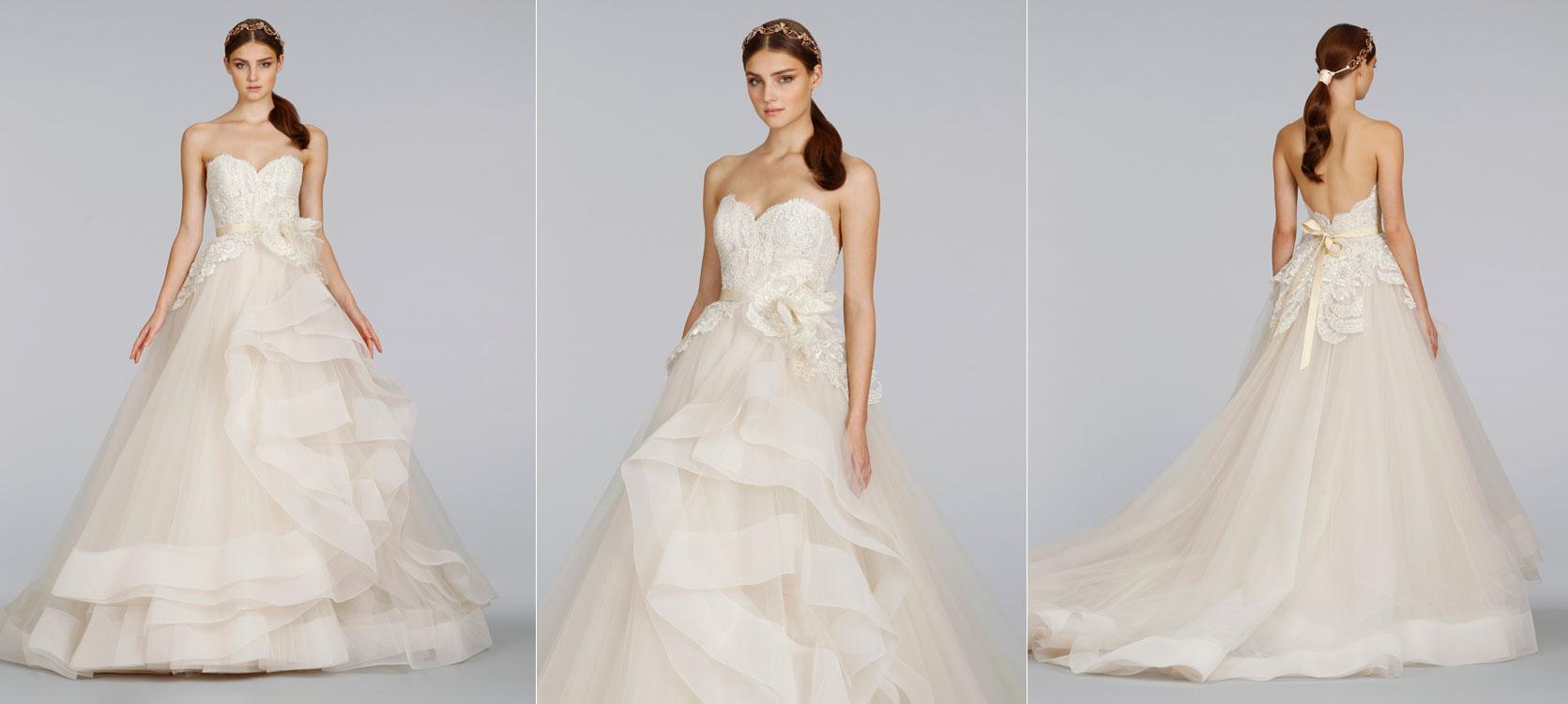lazaro-bridal-tulle-ball-gown-beaded-lace-metallic-ribbon-belt ...