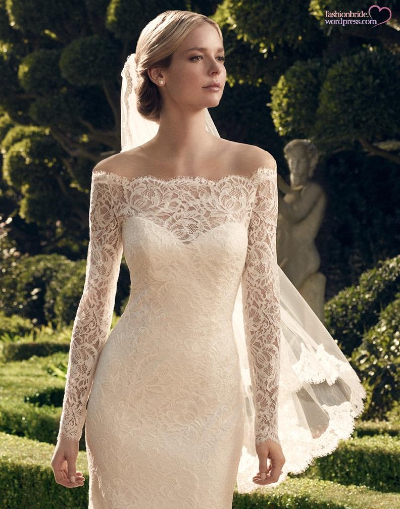 Casablanca 2014 fall bridal collection the fashionbrides for Casablanca lace wedding dress