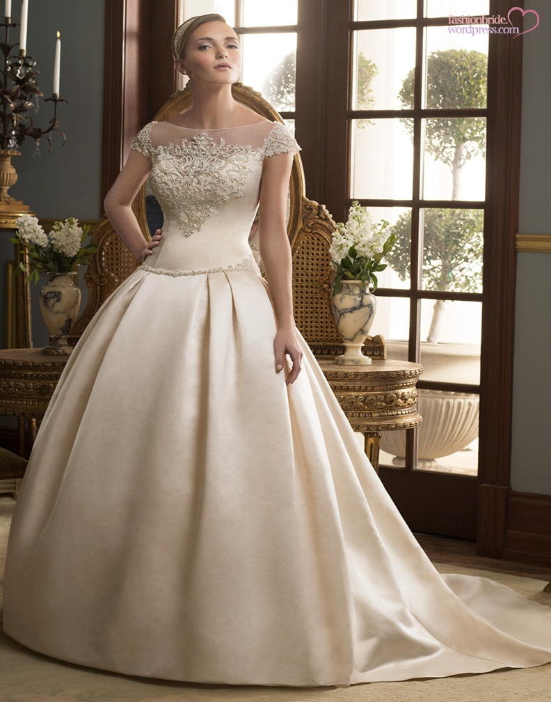 Casablanca wedding gowns 2014 2015 9 the fashionbrides for Casablanca wedding dress