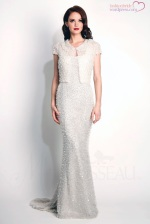 Modern Trousseau - Opal beaded gown and jacket