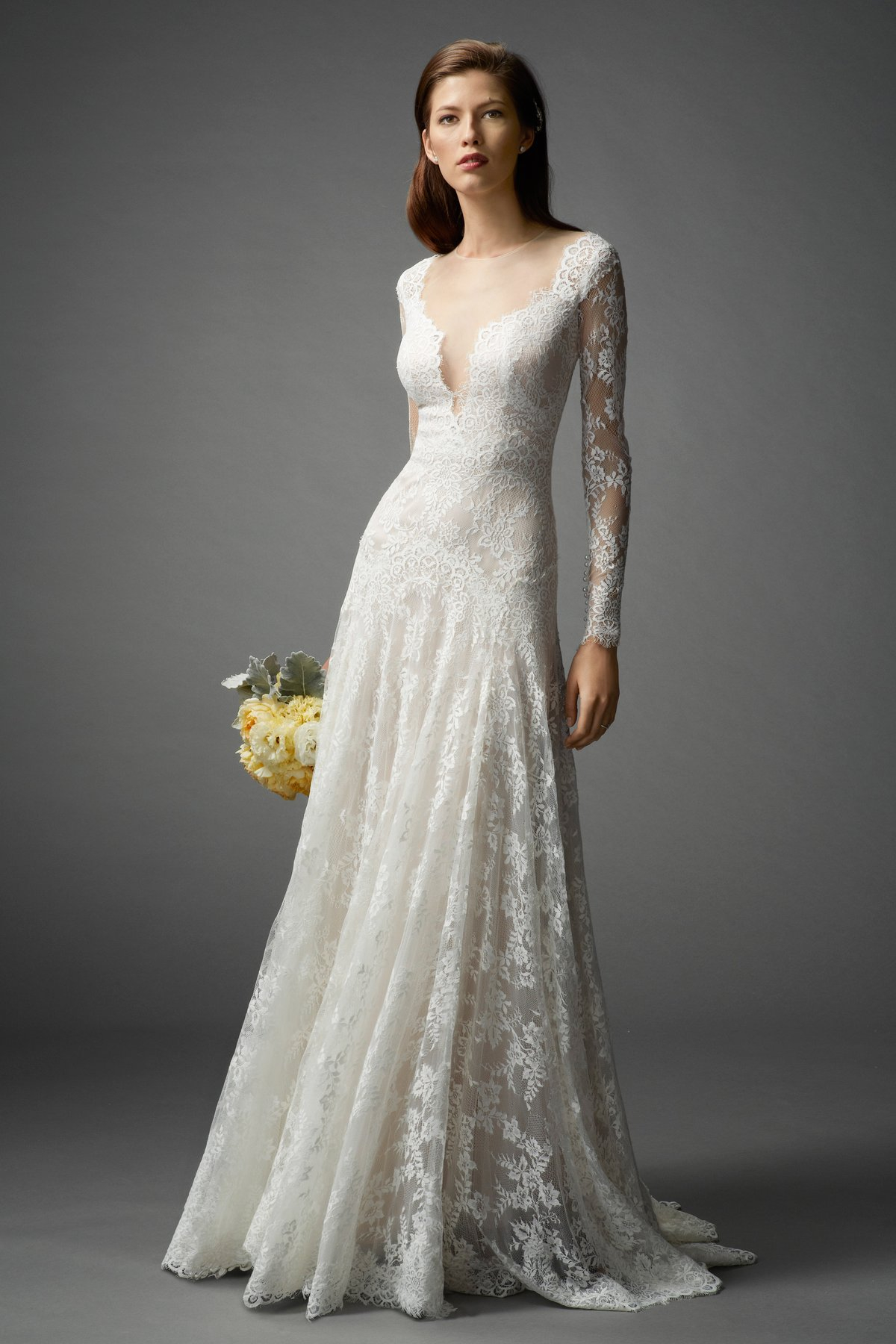 Watters 2015 fall bridal collection the fashionbrides for Wedding dresses with long sleeve