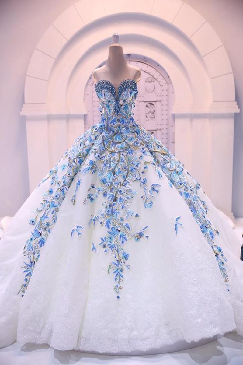 Purple and blue sweet 16 dresses 2017