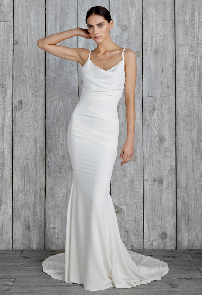 nicole-miller-cowl-neck-wedding-dress-11 | The FashionBrides