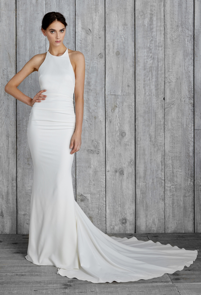 nicole-miller-high-neck-wedding-dress-06 | The FashionBrides