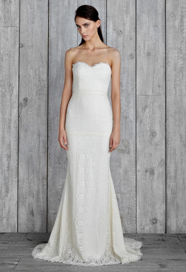 nicole miller strapless wedding dress   Wedding