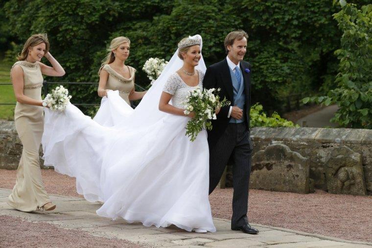 Royal Bride Lady Melissa Percy Andthomas Van Straubenzee