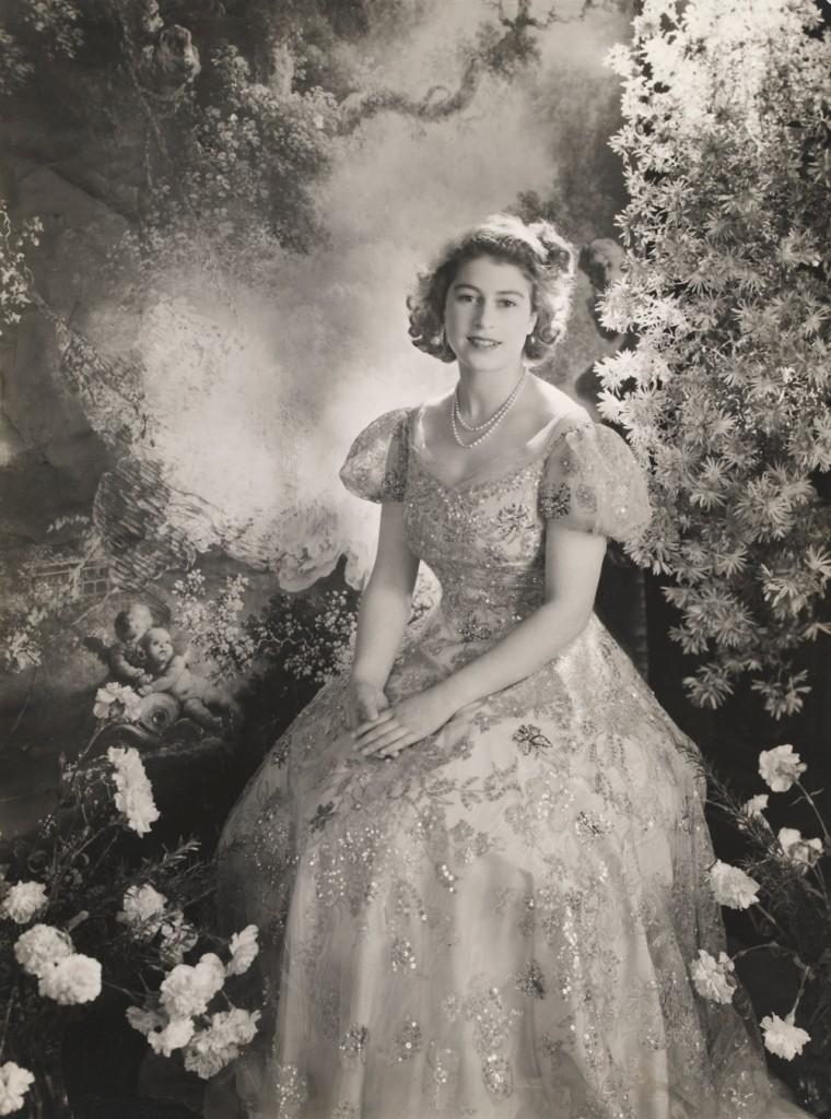 Princess Elizabeth, age 19, by Cecil Beaton, Buckingham Palace, 1945