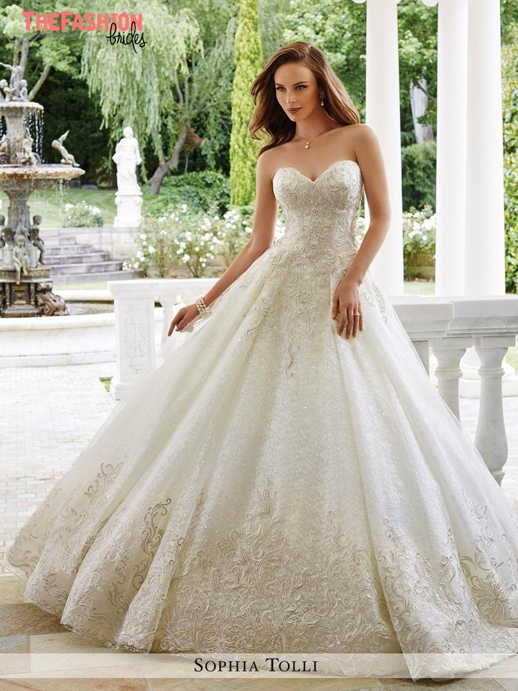 Sophia tolli 2017 spring bridal collection the fashionbrides for Top wedding dress designers 2017