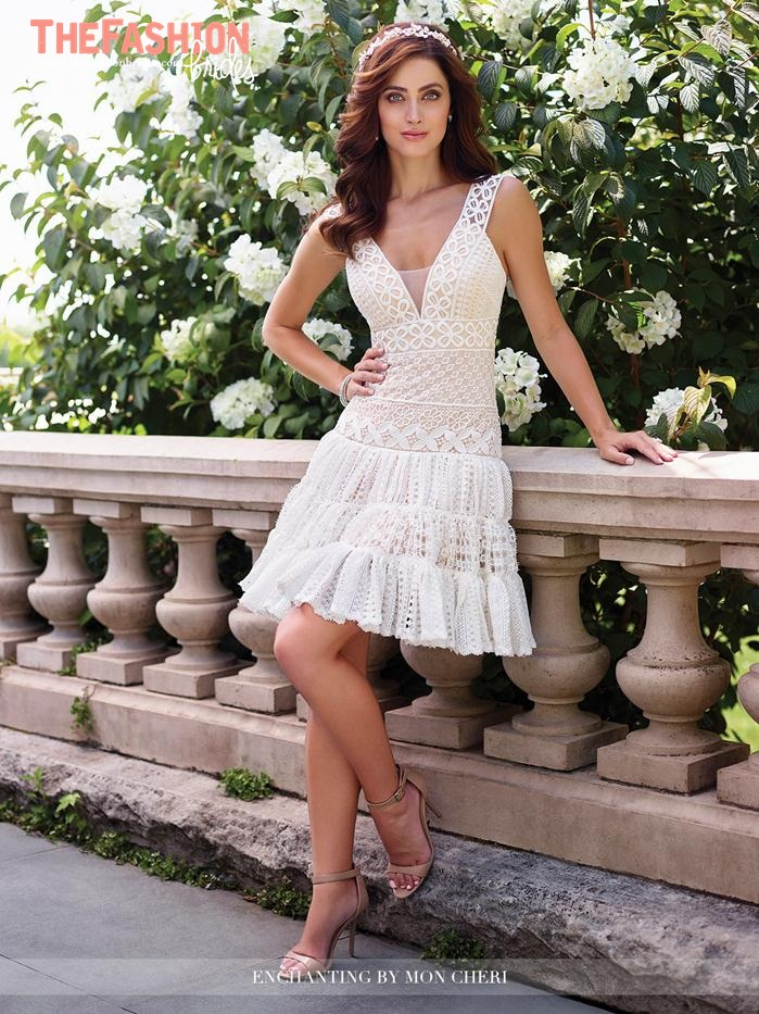 Wedding gown guide short bridal dress the fashionbrides for Short red and white wedding dresses
